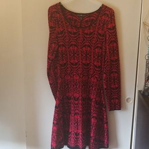 Derek Heart Sweater Dress M